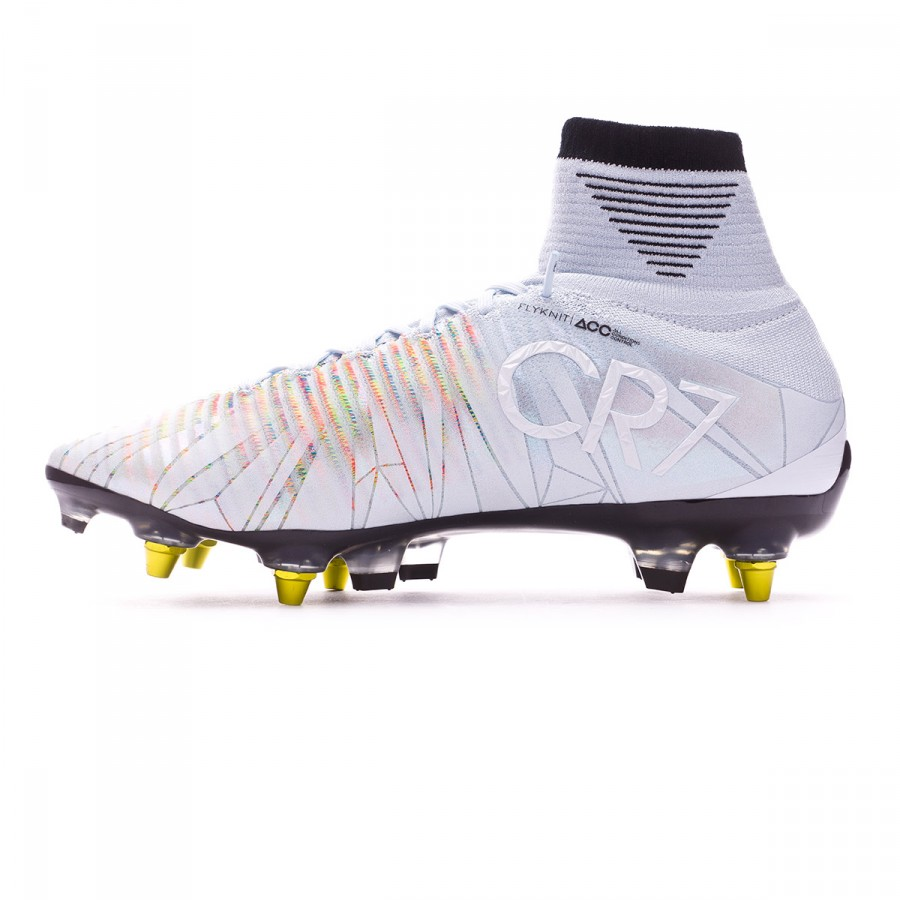 7c505426f8ad Football Boots Nike Mercurial Superfly V CR7 ACC SG-Pro Blue  tint-Black-White-Volt - Football store Fútbol Emotion