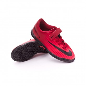 Zapatilla  Nike MercurialX Vortex III IC Velcro Niño University red-Bright crimson-Black
