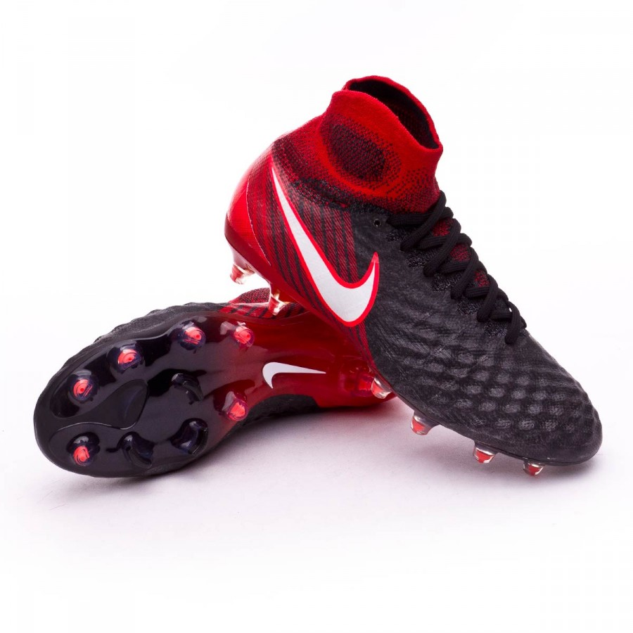 cdd10b4df49f Football Boots Nike Kids Magista Obra II FG Black-White-University ...