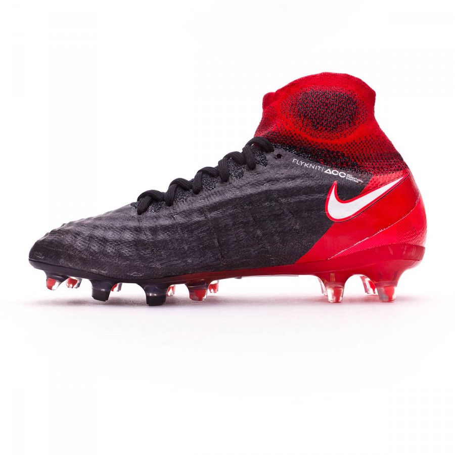 8246e9a3f59e1 Bota de fútbol Nike Magista Obra II FG Niño Black-White-University red -  Tienda de fútbol Fútbol Emotion
