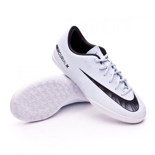 Chaussure de futsal  Nike Jr MercurialX Victory VI CR7 IC Blue tint-Black-White