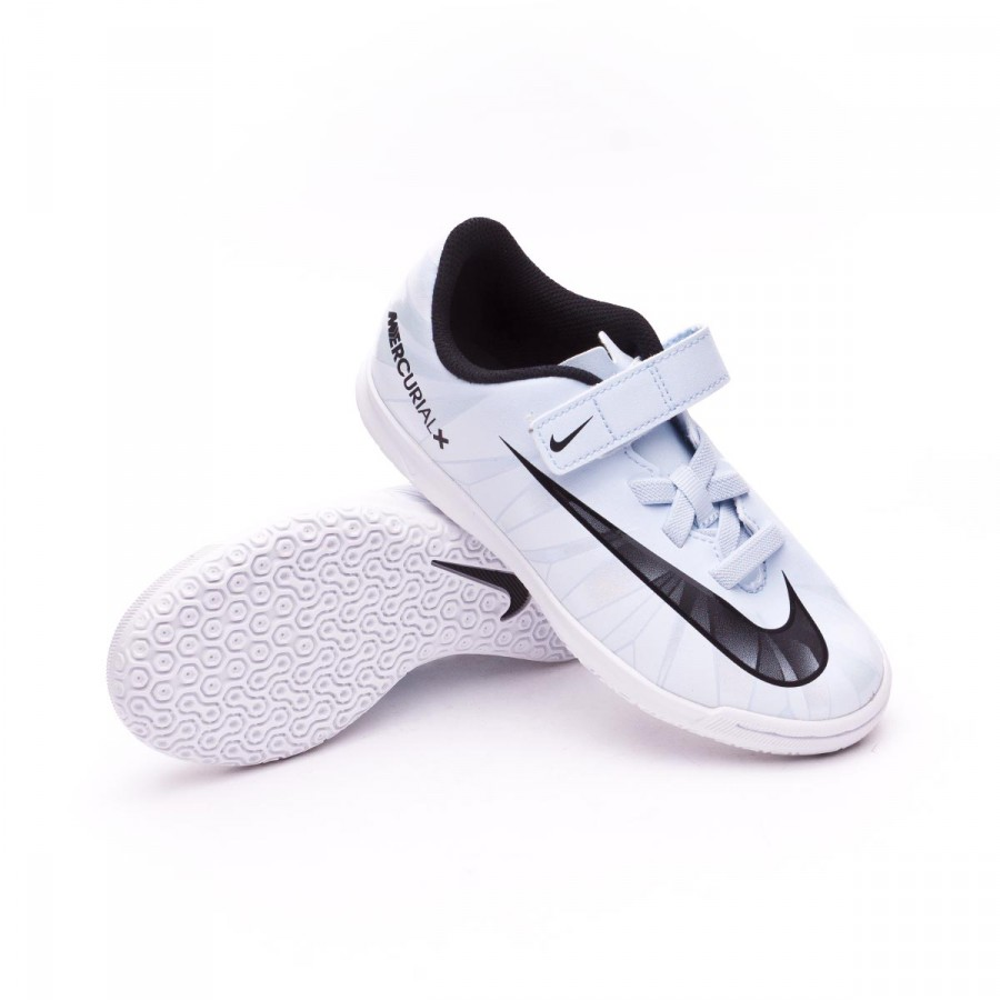 ee4f3a49498 Nike Mercurial Vortex III IC kids Futsal Boot. Blue tint-Black-White ...