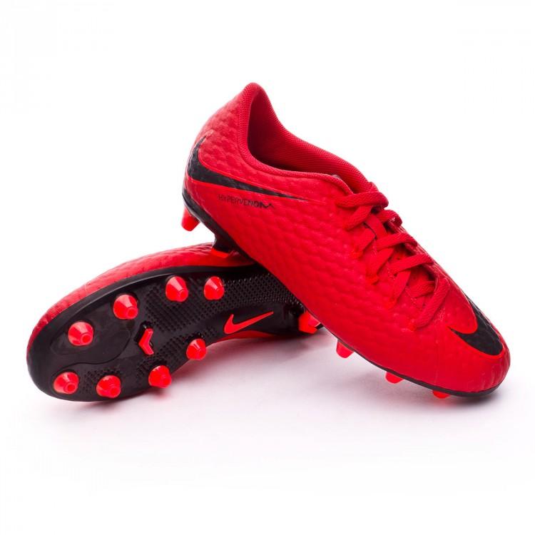 8f31bc6620f31 Football Boots Nike Kids Hypervenom Phelon III AG-Pro University red ...