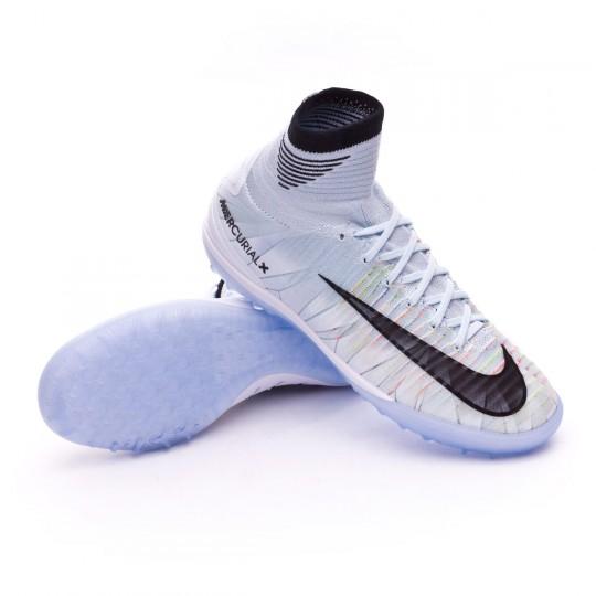 Chaussure de futsal  Nike Jr MercurialX Proximo II CR7 Turf Blue tint-Black-White-Volt