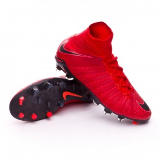 Zapatos de fútbol  Nike Hypervenom Phantom III DF FG Niño University red-Bright crimson-Black