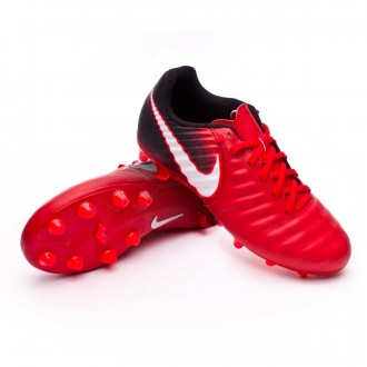Bota  Nike Tiempo Ligera IV AG-Pro Niño Black-White-University red