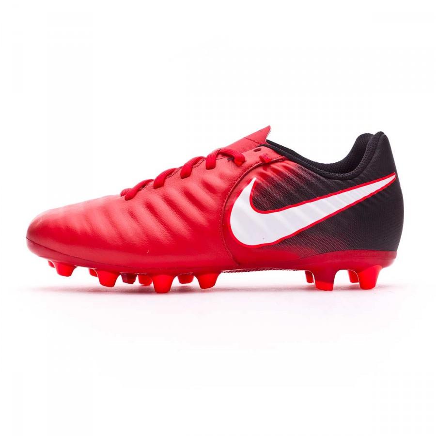 ee85235273918 Zapatos de fútbol Nike Tiempo Ligera IV AG-Pro Niño Black-White-University  red - Tienda de fútbol Fútbol Emotion