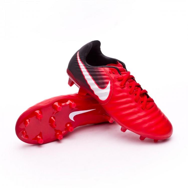ce783e1bf282 Boot Nike Kids Tiempo Legend VII FG Black-White-University red ...