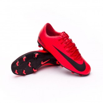 Chuteira  Nike Jr Mercurial Vapor XI FG University red-Bright crimson-Black