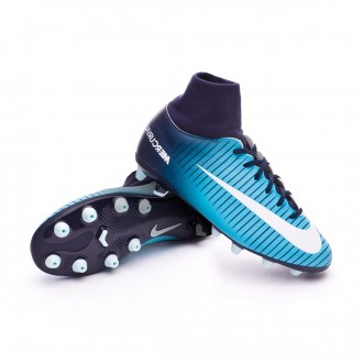 Chaussure  Nike Jr Mercurial Victory VI DF AG-Pro Obsidian-White-Gamma blue