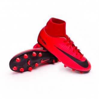 Chuteira  Nike Jr Mercurial Victory VI DF AG-Pro University red-Bright crimson-Black
