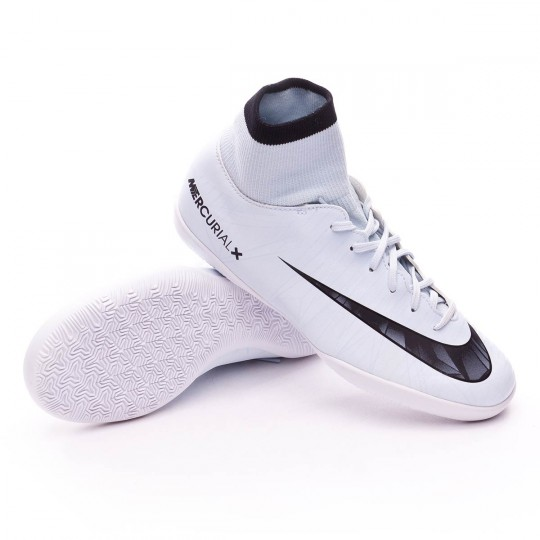 Chaussure de futsal  Nike Jr MercurialX Victory VI CR7 DF IC Blue tint-Black-White