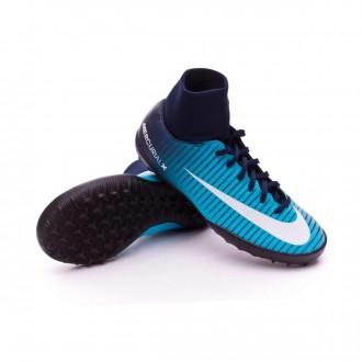 Zapatilla  Nike MercurialX Victory VI DF Turf Niño Glacier blue-Gamma blue-Obsidian-White