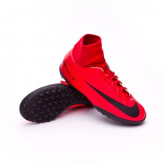 Zapatilla  Nike MercurialX Victory VI DF Turf Niño University red-Bright crimson-Black
