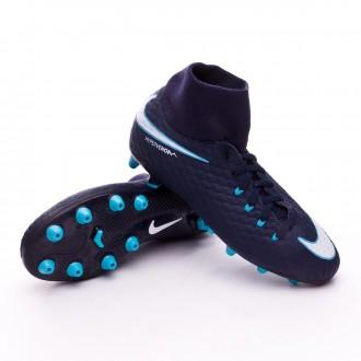 Chaussure  Nike Jr Hypervenom Phelon III DF AG-Pro Glacier blue-Gamma blue-Obsidian-White