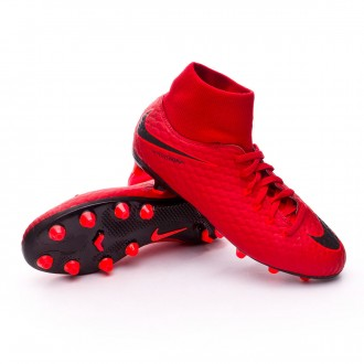 Zapatos de fútbol  Nike Hypervenom Phelon III DF AG-Pro Niño University red-Bright crimson-Black