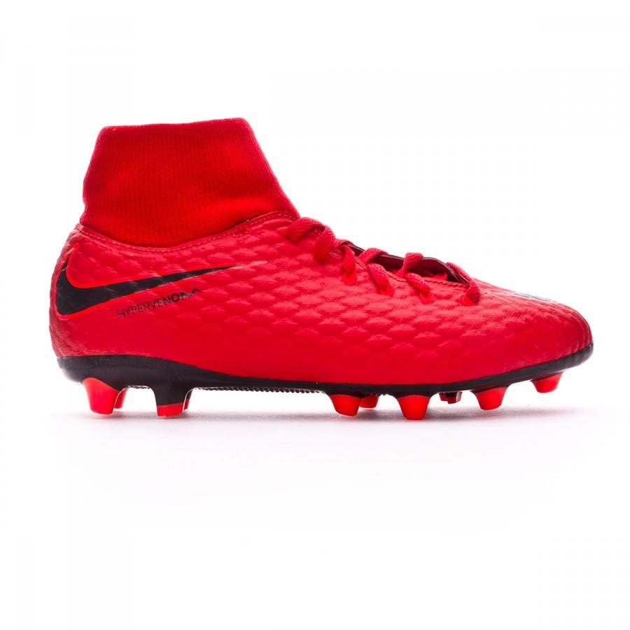 fb4ea506a86 Football Boots Nike Kids Hypervenom Phelon III DF AG-Pro University  red-Bright crimson-Black - Tienda de fútbol Fútbol Emotion