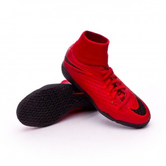 Zapatilla  Nike HypervenomX Phelon III DF IC Niño University red-Bright crimson-Black
