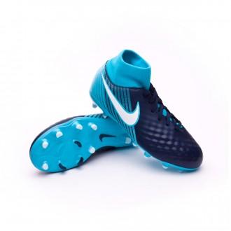 Zapatos de fútbol  Nike Magista Onda II DF FG Niño Glacier blue-Gamma blue-Obsidian-White