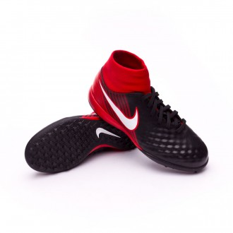 Zapatilla  Nike MagistaX Onda II DF Turf Niño Black-White-University red