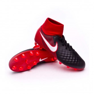 Chuteira  Nike Jr Magista Onda II DF AG-Pro Black-White-University red