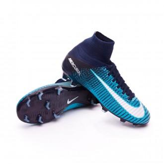 Chuteira  Nike Jr Mercurial Superfly V DF FG Glacier blue-Gamma blue-Obsidian-White