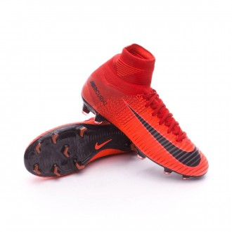 Chuteira  Nike Jr Mercurial Superfly V DF FG University red-Bright crimson-Black