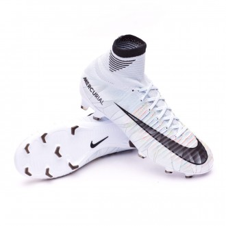 Kids Mercurial Superfly V CR7 DF FG  Blue tint-Black-White-Volt