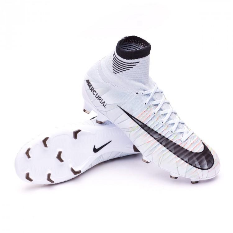 292476b973b98 Bota de fútbol Nike Mercurial Superfly V CR7 DF FG Niño Blue tint ...