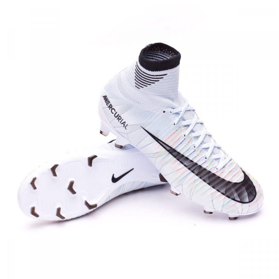 8c03a5b0db5f Boot Nike Kids Mercurial Superfly V CR7 DF FG Blue tint-Black-White ...