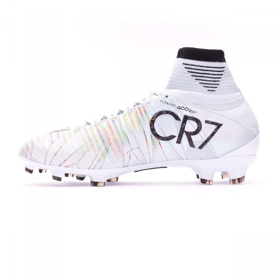 8cbc2f5c0 Football Boots Nike Kids Mercurial Superfly V CR7 DF FG Blue tint-Black- White-Volt - Football store Fútbol Emotion