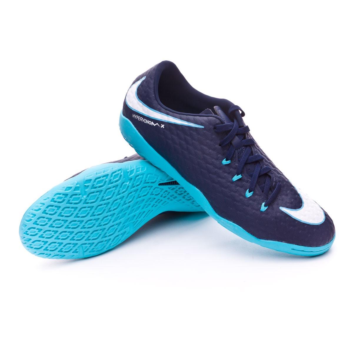 794334bf0 Futsal Boot Nike HypervenomX Phelon III IC Obsidian-White-Gamma blue ...