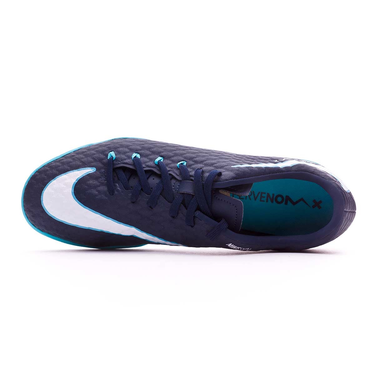 8b697fef2269 Futsal Boot Nike HypervenomX Phelon III IC Obsidian-White-Gamma blue-Glacier  blue - Tienda de fútbol Fútbol Emotion