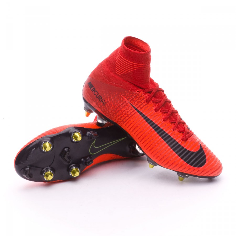 Boot Nike Mercurial Superfly V Anti-Clog ACC SG-Pro University red ... b3371861d0922