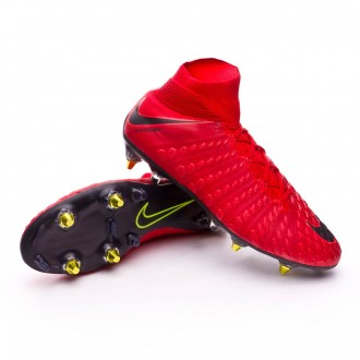 Zapatos de fútbol  Nike Hypervenom Phantom III DF Anti-Clog ACC SG-Pro University red-Black-Bright crimson