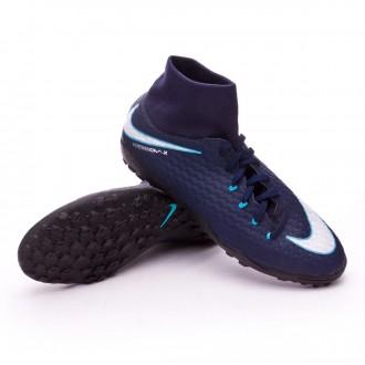 Chaussure  Nike HypervenomX Phelon III DF Turf Obsidian-White-Gamma blue-Glacier blue