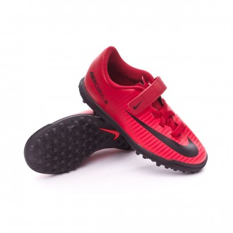 Sapatilha  Nike Jr MercurialX Vortex III Turf Velcro University red-Black-Bright crimson