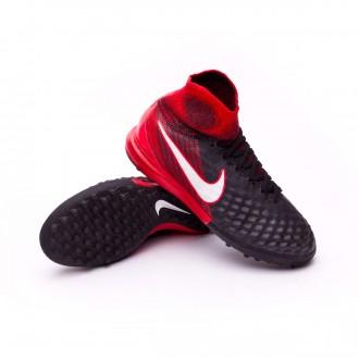 Zapatilla  Nike MagistaX Proximo II DF Turf Niño Black-White-University red