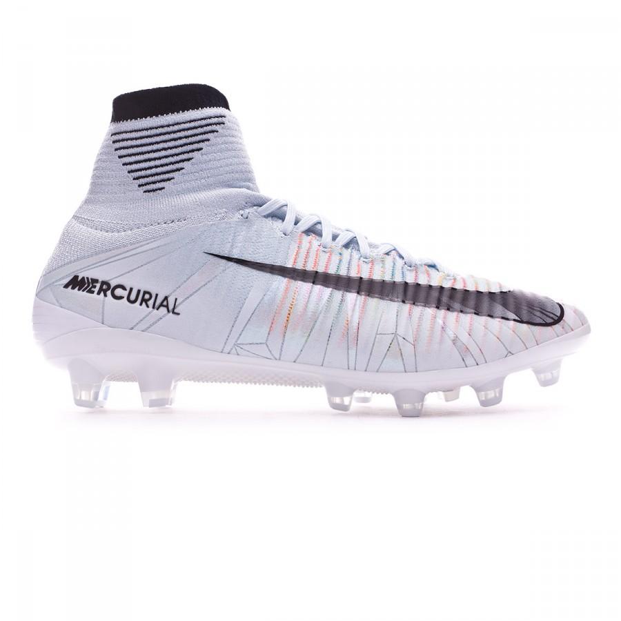 check out 021da 1e8d7 Football Boots Nike Mercurial Superfly V CR7 ACC AG Blue tint-Black-White-Volt  - Tienda de fútbol Fútbol Emotion