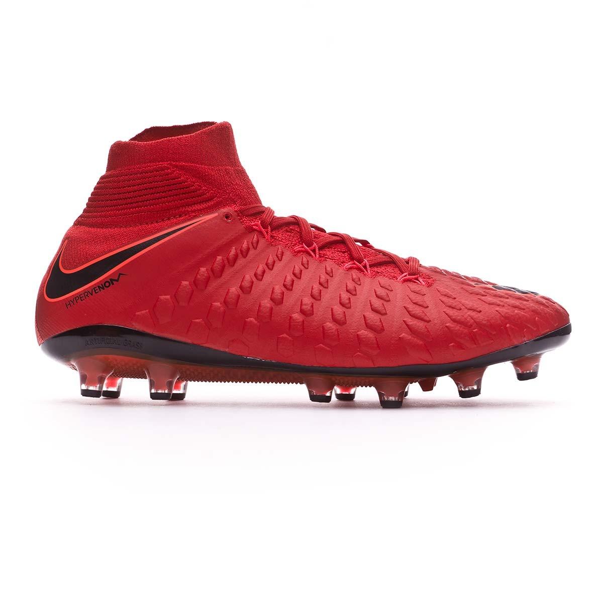 36e9f6eac38 Football Boots Nike Hypervenom Phantom III DF ACC AG-Pro University red -Black-Bright crimson - Football store Fútbol Emotion