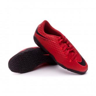 Zapatilla  Nike HypervenomX Phelon III IC Niño University red-Black-Bright crimson