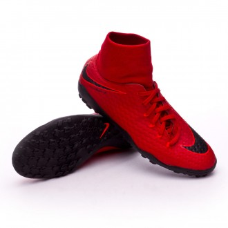 Zapatilla  Nike HypervenomX Phelon III DF Turf University red-Black-Bright crimson