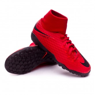 Zapatilla  Nike HypervenomX Phelon III DF Turf Niño University red-Black-Bright crimson