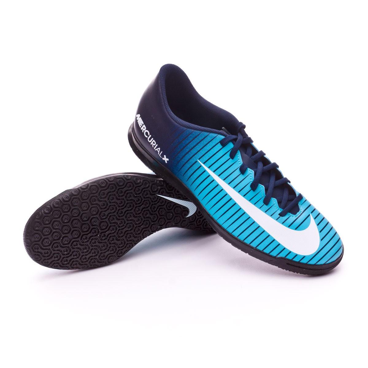 c5fedf0dc Futsal Boot Nike MercurialX Vortex III IC Obsidian-White-Gamma blue -  Tienda de fútbol Fútbol Emotion