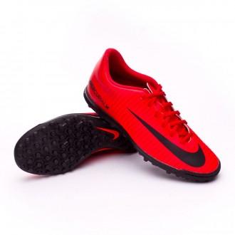 Sapatilha  Nike MercurialX Vortex III Turf University red-Black-Bright crimson