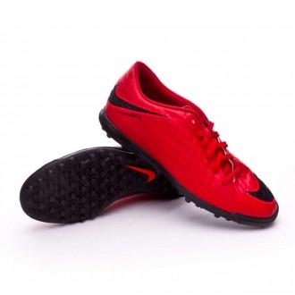 Zapatilla  Nike HypervenomX Phade III Turf University red-Black-Bright crimson