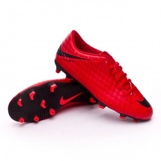 Zapatos de fútbol  Nike Hypervenom Phade III FG University red-Black-Bright crimson