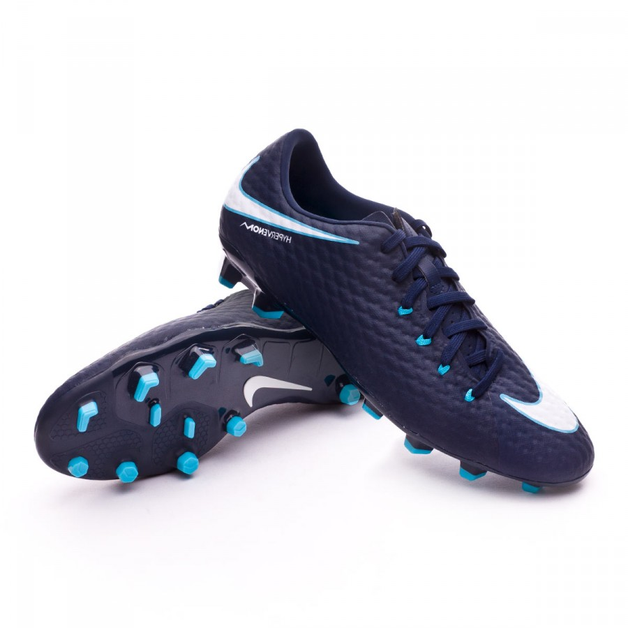 a30c5bb517c6 Nike Hypervenom Phelon III FG Football Boots. Obsidian-White-Gamma blue-Glacier  ...