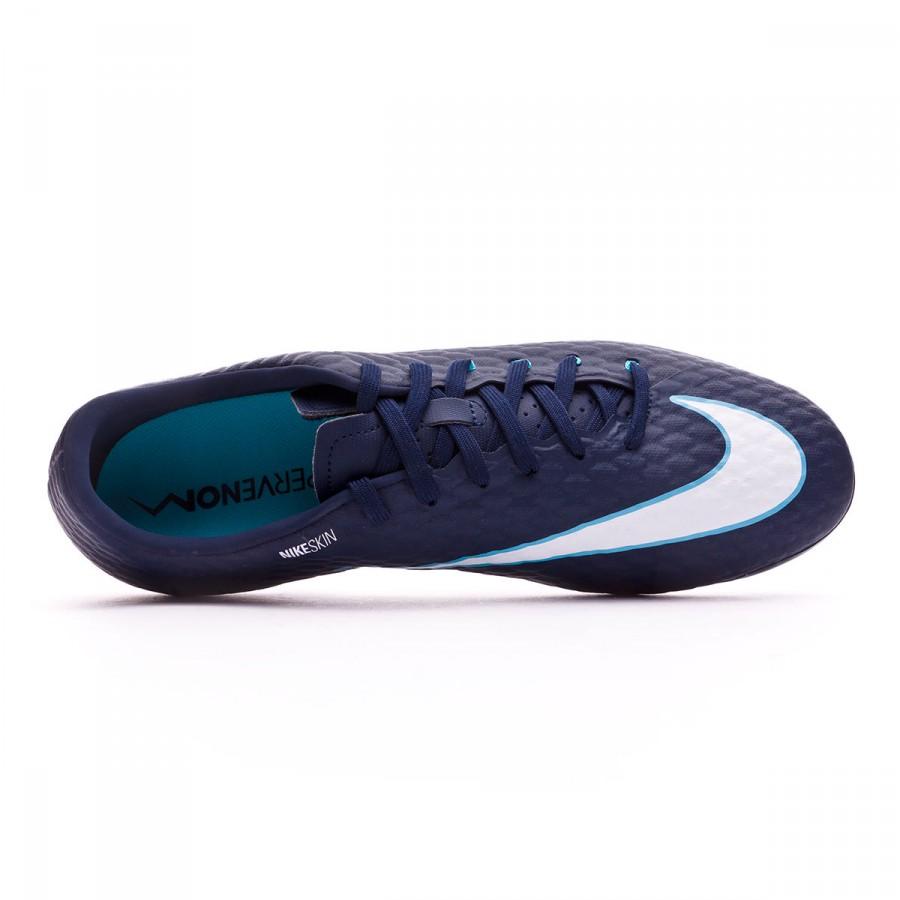 d4e9dd2b6217 Football Boots Nike Hypervenom Phelon III FG Obsidian-White-Gamma blue-Glacier  blue - Tienda de fútbol Fútbol Emotion