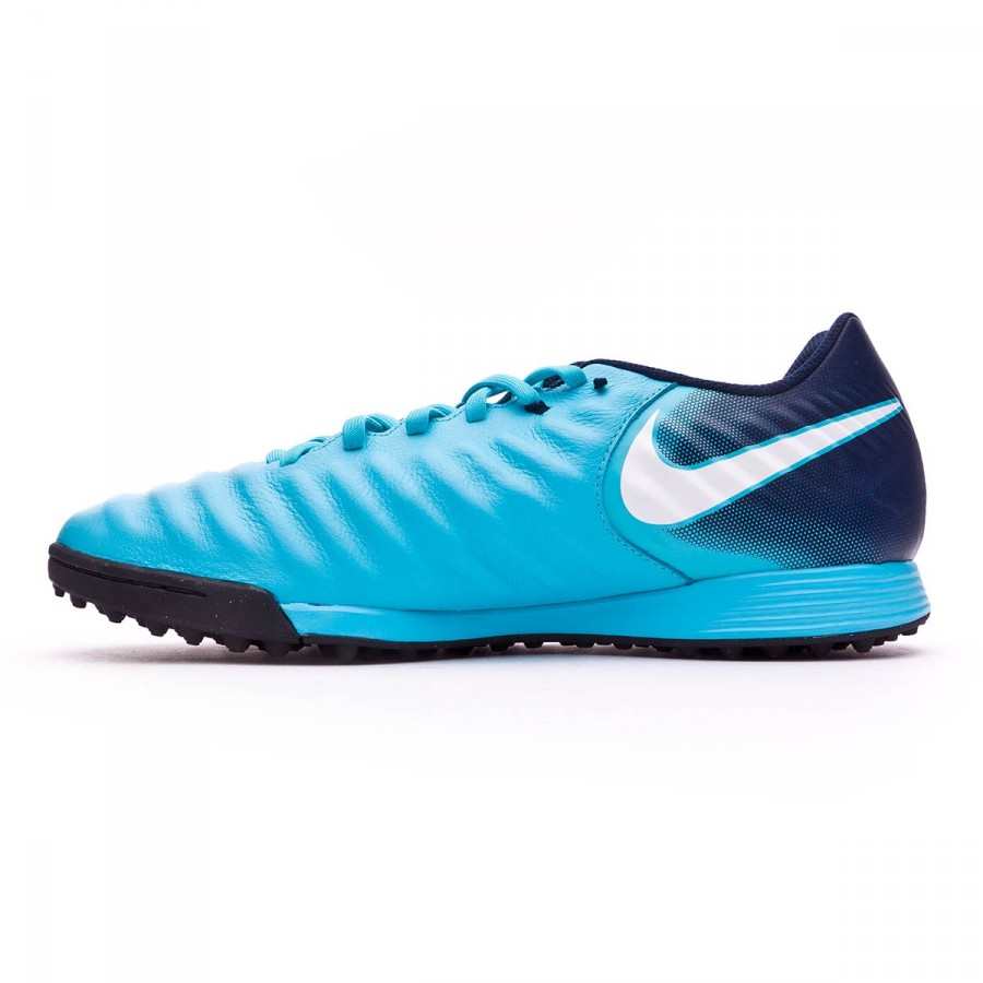 8e357015eb00 Football Boot Nike TiempoX Ligera IV Turf Gamma blue-White-Obsidian-Glacier  blue - Tienda de fútbol Fútbol Emotion